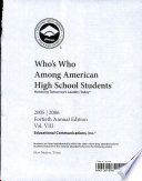 Who's who among American high school students, 2005/2006
