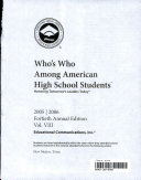 Who s who Among American High School Students  2005 2006