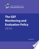 The GEF Monitoring and Evaluation Policy 2010 Book PDF