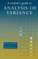A Student s Guide to Analysis of Variance