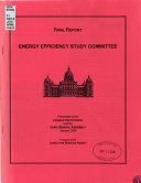 Energy Efficiency Study Committee