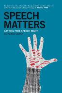 Speech Matters