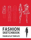 Fashion Sketchbook Figure   Flat Template