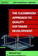 The Cleanroom Approach to Quality Software Development Book