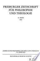 Freiburger Zeitschrift für Philosophie und Theologie