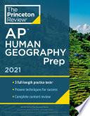Princeton Review AP Human Geography Prep  2021 Book