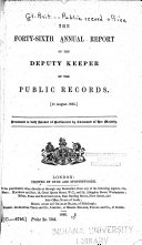 Pdf The ... Annual Report of the Deputy Keeper of the Public Records