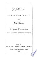 O'More, a Tale of War