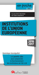 Institutions de l'Union Européenne 2016-2017