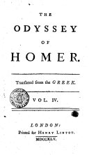 The Odyssey of Homer. Translated from the Greek. Vol. 1. [-5.!