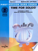 Read Online Time for Solos! for Baritone B.c. For Free