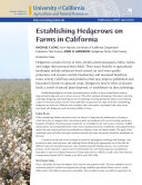 Establishing Hedgerows on Farms in California