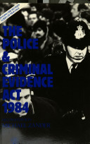Cover image of The Police and Criminal Evidence Act 1984