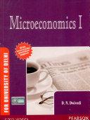 Microeconomics I  For University of Delhi