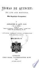 Thomas De Quincey Book PDF