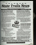 Colorado State Trails News