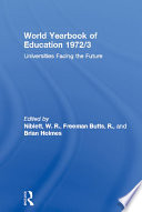 World Yearbook Of Education 1972 3