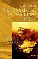 Pdf Dictionnaire de la langue du cirque Telecharger