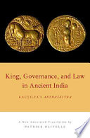 King Governance And Law In Ancient India