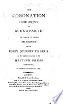 The Coronation Ceremony of Buonaparte