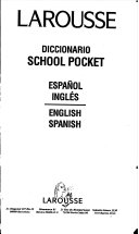 Larousse Diccionario School Pocket