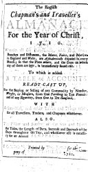 Pdf The English Chapman's and Traveller's Almanack for the Year of Christ, 1710. ...