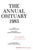 Annual Obituary 1983