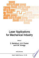 Laser Applications For Mechanical Industry Book PDF