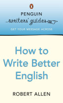 Cover of Penguin Writers' Guides