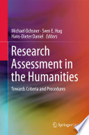 Research Assessment In The Humanities Book PDF