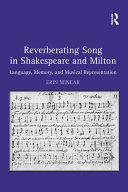 Pdf Reverberating Song in Shakespeare and Milton Telecharger