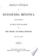 American Supplement to Encyclop  dia Britannica Book