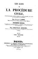 Le lois de la procédure civile
