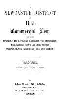 THE NEWCASTLE DISTRICT AND HULL COMMERCIAL LIST