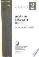 Smokeless Tobacco Or Health Book
