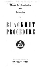 Manual for Organization and Instruction of Blackout Procedure