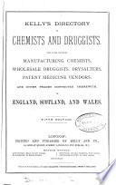 The Post office  afterw   Kelly s directory of chemists and druggists  afterw   Kelly s directory of the chemical industries  1st 20th ed Book