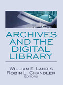 Archives and the Digital Library [Pdf/ePub] eBook