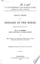 Special Report on Diseases of the Horse Book