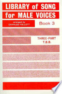 Library Of Songs For Male Voices Bk 3 Tbb Book