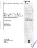 Measuring Services Trade Liberalization And Its Impact On Economic Growth Book PDF