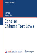 Pdf Concise Chinese Tort Laws Telecharger