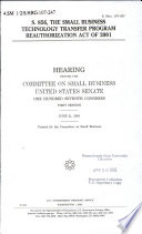 S  856  the Small Business Technology Transfer Program Reauthorization Act of 2001 Book