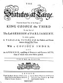 The Statutes at Large from Magna Charta to the [last Session of Parliament, 1225-1763]