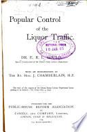Popular Control Of The Liquor Traffic