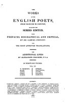 The Works of the English Poets from Chaucer to Cowper