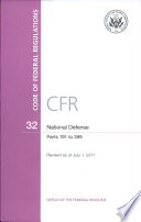 Code Of Federal Regulations Title 32 National Defense Pt 191 399 Revised As Of July 1 2011