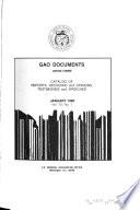 GAO Documents