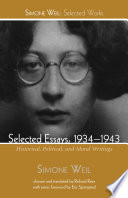 Selected Essays, 1934-1943  : Historical, Political, and Moral Writings