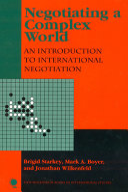 Negotiating A Complex World Book